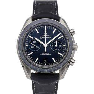 Omega Black Titanium Speedmaster Two Counters Chronograph 311.93.44.51.03.001 Men's Wristwatch 44 MM