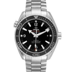 Omega Black Stainless Steel Seamaster Planet Ocean 232.30.42.21.01.001 Men's Wristwatch 42 MM