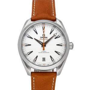 ساعة يد رجالية أوميغا غولف إديشن 150m أكوا تيرا 220.12.41.21.02.003 سي ماستر ستانلس ستيل فضية إصدار محدود 41 مم