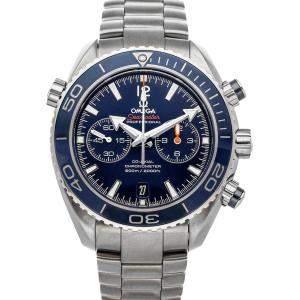 Omega Blue Titanium Seamaster Planet Ocean 600m Chronograph 232.90.46.51.03.001 Men's Wristwatch 46 MM