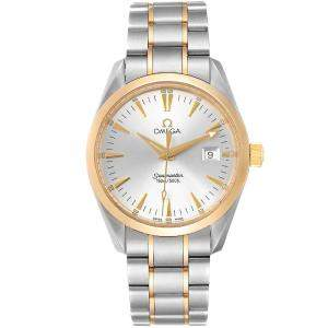 Omega Silver Stainless Steel Seamaster Aqua Terra Yellow Gold 2318.30.00 Men's Wristwatch 36.2 MM