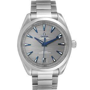 Omega Grey Stainless Steel Seamaster Aqua Terra 220.10.41.21.06.001 Men's Wristwatch 41MM