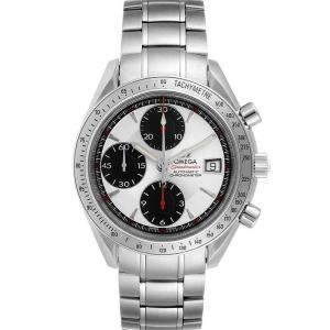 Omega Silver Stainless Steel Speedmaster Date Chronograph 3211.31.00 Men's Wristwatch 40MM