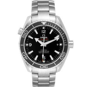 Omega Black Stainless Steel Seamaster Planet Ocean 232.30.42.21.01.001 Men's Wristwatch 42MM