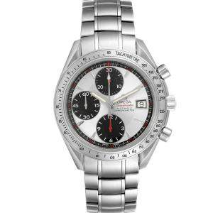 Omega Silver Stainless Steel Speedmaster Date Panda Chronograph 3211.31.00 Men's Wristwatch 40MM