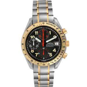Omega Black 18K Yellow Gold And Stainless Steel Speedmaster Automatic 3313.53.00 Men's Wristwatch 39 MM
