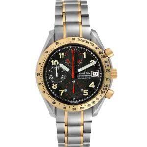 ساعة يد رجالية أوميغا سبيدماستر أوتوماتيك 3313.53.00 ستانلس ستيل و ذهب أصفر عيار 18 سوداء 39 مم