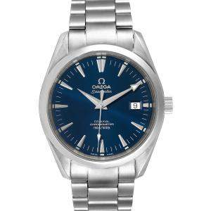 Omega Blue Stainless Steel Seamaster Aqua Terra 2503.80.00 Men's Wristwatch 39.2MM