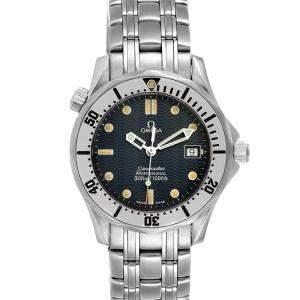 ساعة يد رجالية أوميغا سيماستر 300 متر 2562.80.00 ستانلس ستيل زرقاء 36 مم