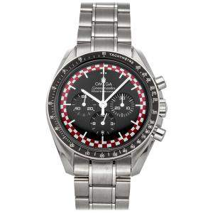 Omega Black Stainless Steel Speedmaster Moonwatch Professional Chronograph 311.30.42.30.01.004 Men's Wristwatch 42 MM