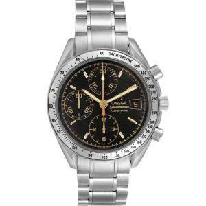 ساعة يد رجالية أوميغا سبيدماستر دايت 3513.54.00 ستانلس ستيل سوداء 39 مم