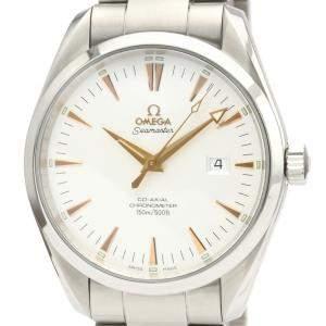 """ساعة يد رجالية أوميغا """"سيماستر أوتوماتيك 2502.34"""" ستانلس ستيل فضية 42 مم"""
