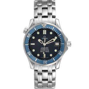 Omega Blue Stainless Steel Seamaster 2551.80.00 Men's Wristwatch 36 MM