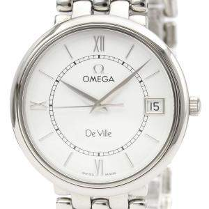 Omega Silver Stainless Steel De Ville Quartz 7514.31 Men's Wristwatch 32 MM