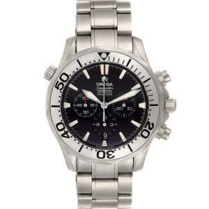 ساعة يد رجالية أوميغا سيماستر 300 متر كرونوغراف 2293.52.00 تيتانيوم سوداء 41.5 مم