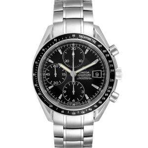 Omega Black Stainless Steel Speedmaster Chronograph 3210.50.00 Men's Wristwatch 40 MM
