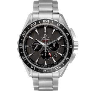 Omega Black Stainless Steel Seamaster Aqua Terra GMT 231.10.44.52.06.001 Men's Wristwatch 44 MM