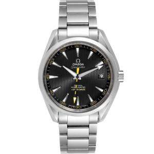 Omega Black Stainless Steel Seamaster Aqua Terra Co-Axial 231.10.42.21.01.002 Men's Wristwatch 41.5 MM