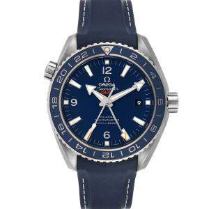 Omega Blue Stainless Steel Seamaster Planet Ocean GMT 600m 232.92.44.22.03.001 Men's Wristwatch 43.5 MM