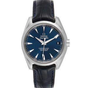 Omega Blue Stainless Steel Seamaster Aqua Terra 220.13.38.20.03.001 Men's Wristwatch 38 MM