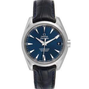 ساعة يد رجالية أوميغا سيماستر اكوا تيرا 220.13.38.20.03.001  ستانلس ستيل زرقاء 38 مم