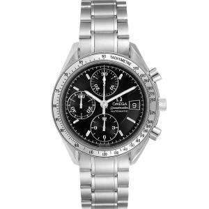 Omega Black Stainless Steel Speedmaster Date Automatic 3513.50.00 Men's Wristwatch 39 MM