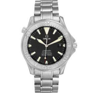 Omega Black Stainless Steel Seamaster 300M 2230.50.00 Men's Wristwatch 40 MM