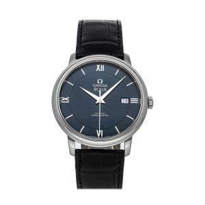 Omega Blue Stainless Steel De Ville Prestige Co-Axial 424.13.40.20.03.001 Men's Wristwatch 39.5 MM