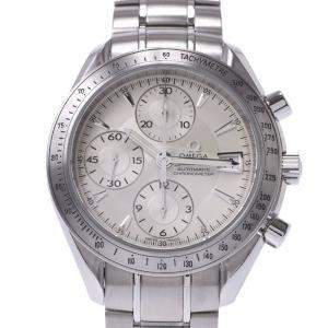 Omega Silver Stainless Steel Speedmaster Chronograph 3211.30.00 Men's Wristwatch 42 MM