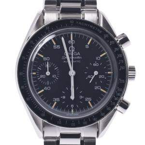 Omega Black Stainless Steel Speedmaster Automatic 3510.50.00 Men's Wristwatch 39 MM