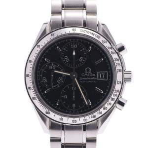 Omega Black Stainless Steel Speedmaster Date 3513.50.00 Men's Wristwatch 39 MM
