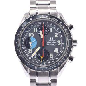 Omega Gray Stainless Steel Speedmaster Mark Day Date Triple Calendar 3520.53.00 Men's Wristwatch 39 MM