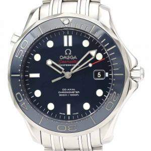 Omega Blue Stainless Steel Seamaster Automatic 212.30.41.20.03.001 Men's Wristwatch 41 MM