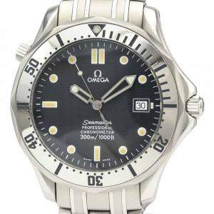Omega Blue Stainless Steel Seamaster Professional 300M Automatic 2532.80 Men's Wristwatch 41 MM