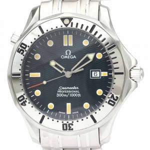 Omega Blue Stainless Steel Seamaster Professional 300M Quartz 2542.80 Men's Wristwatch 41 MM