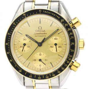 Omega Champagne Yellow Gold and Stainless Steel Speedmaster 3310.10 Men's Wristwatch 37 MM