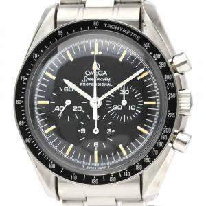 Omega Black Stainless Steel Speedmaster 3590.50.00 Men's Wristwatch 42 MM