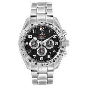 Omega Black Stainless Steel Speedmaster Broad Arrow 321.10.44.50.01.001 Men's Wristwatch 44 MM