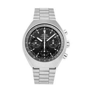 Omega Black Stainless Steel Speedmaster Mark II Chronograph 327.10.43.50.01.001 Men's Wristwatch 42 x 46 MM