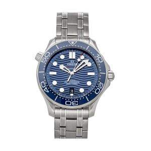 Omega Blue Stainless Steel Seamaster Diver 300m 210.30.42.20.03.001 Men's Wristwatch 42 MM