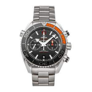 Omega Black Stainless Steel Seamaster Planet Ocean 600m Chronograph 215.30.46.51.01.002 Men's Wristwatch 45.5 MM