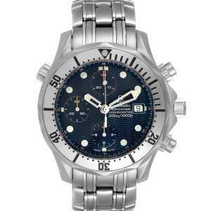 ساعة يد رجالية أوميغا سيماستر كرونوغراف 2598.80.00 ستانلس ستيل زرقاء 41.5 مم