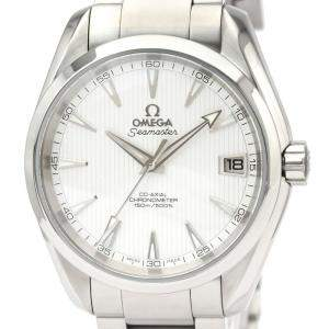 Omega Silver Stainless Steel Seamaster Aqua Terra Co-Axial 231.10.39.21.02.001 Men's Wristwatch 39 MM