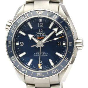 Omega Blue Titanium Seamaster Planetocean 600M Co-Axial GMT 232.90.44.22.03.001 Men's Wristwatch 44 MM
