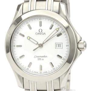 Omega White Stainless Steel Seamaster 120M 2511.21 Men's Wriswatch 36 MM