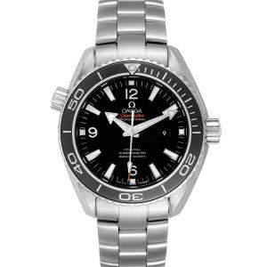 ساعة يد رجالية أوميغا سيماستر بلانيت أوشان 600 متر 232.30.38.20.01.001 ستانلس ستيل سوداء 37.5