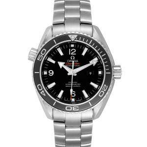 Omega Black Stainless Steel Seamaster Planet Ocean 600m 232.30.38.20.01.001 Men's Wristwatch 37.5 MM