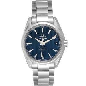 ساعة يد رجالية رولكس أوميغا سيماستر اكوا تيرا 231.10.39.21.03.002 ستانلس ستيل زرقاء 38.5 مم