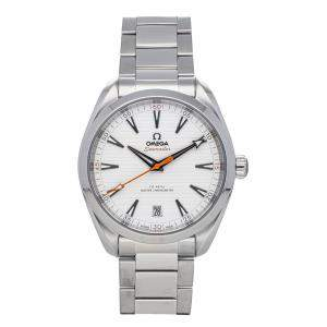 ساعة يد رجالية أوميغا سيماستر اكوا تيرا غولف إصدار 150 متر 220.10.41.21.02.001 ستانلس ستيل فضية 41 مم