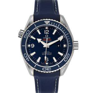 Omega Blue Titanium Seamaster Planet Ocean 232.92.38.20.03.001 Men's Wristwatch 37.5 MM